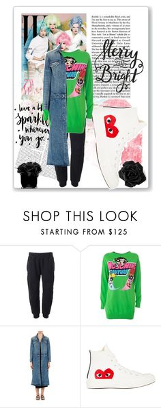 """""""RITA'S 10 K CONTEST SET 7- flowers and logo"""" by peeweevaaz ❤ liked on Polyvore featuring adidas Originals, Moschino, Helmut Lang, Comme des Garçons, Hervé Gambs, hightops, logomania and ritas10kcomp"""