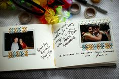guest book idea (with washi tape) | photo by lakshal perera