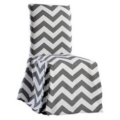 Chevron Dining Room Chair Slipcover : Target Mobile... DIY for desk chair and add foam/batting to the back, keep removable/washable