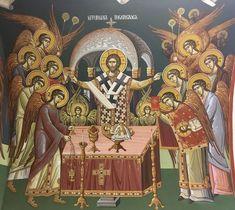 Byzantine Icons, Eucharist, Orthodox Icons, Mural Painting, Religious Art, Altar, Jesus Christ, Spirituality, Interiors