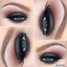 This look by @tiarni88 uses Makeup Geek Eyeshadows in: Creme Brûlée, Cocoa Bear, Bitten  Corrupt, Bada Bing, and Dirty Martini by makeupgeekcosmetics