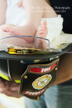 firefighter newborn photography, fireman newborn photo