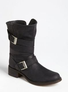 Steve Madden 'Brewzzer' Boot Womens Black Leather Size M M from Nordstrom on Catalog Spree, my personal digital mall. Moto Boots, Leather Boots, Black Leather, Bootie Boots, Shoe Boots, Shoe Bag, Shoe Closet, Steve Madden Stiefel, Totes