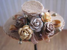 12th Scale Dollhouse Miniature Ladies Hat and by 12thCouture