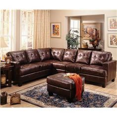 Shop for Coaster Samuel Contemporary Leather Sectional Sofa, and other Living Room Sectionals at China Towne Furniture in Solvay, NY Leather Couch Sectional, Furniture Sets, Leather Sectional Sofas, Furniture, Living Room Leather, Leather Living Room Furniture, Brown Sectional, Living Room Sets Furniture, Leather Furniture
