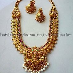 Antique Gold Jewellery Pendant, Oxidised Jewellery Near Me Indian Jewelry Sets, Indian Wedding Jewelry, Bridal Jewelry, Gold Jewellery Design, Gold Jewelry, Antique Jewelry, Antique Gold, Necklace Set, Gold Necklace