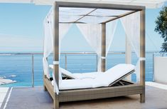 Mezzo Outdoor Double Poster Bed