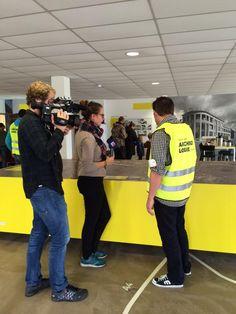 Een leuke start van de #archeodagen bij @Rotterdamsebaan met @omroepwest Vanavond opt nieuws!