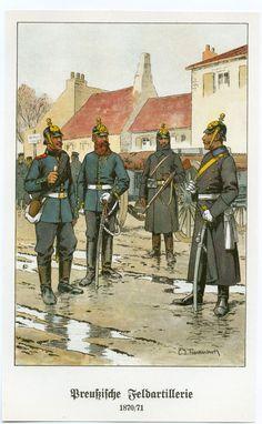 Prussian Artillery 1870 www.uniformology.com
