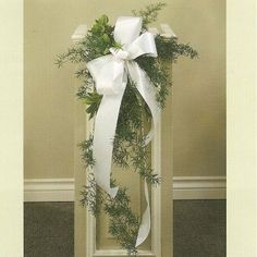 Wedding Pew Decorations Pew decorations are an Christmas Decorations Archive - - Church 4 Wedding Church Wedding Decoration Church Pew Wedding Decorations, Church Wedding Flowers, Wedding Pews, Wedding Centerpieces, Wedding Candelabra, Church Weddings, Wedding Cakes, Pew Flowers, Bride Flowers