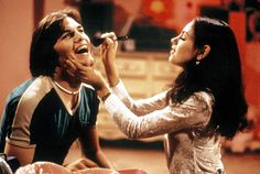 Ashton Kutcher and Mila Kunis, That Show The new couple, who were friends for years before they started dating this past spring, played lovebirds Kelso and Jackie on the sitcom, which ran from 1998 to Steven Hyde, Kelso And Jackie, Michael Kelso, Couple Goals, I Love Series, 70 Show, 70s Aesthetic, Aesthetic Bedroom, Estilo Hippie