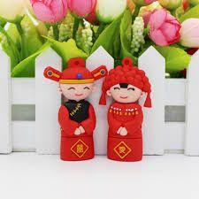 Chinese wind bride and groom lovely design pvc usb sticks. #64gbflashdrive #cheapusbflashdrives #cheapusbdrives #8gbusbflashdrive