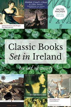 Visit Ireland through the pages of a book! These classic books set in Ireland will give you a taste of Irish culture, history, and landscape. I've included both Irish novels and short story collections in this sampling of classic Irish fiction. Best Classic Books, Classic Literature, Historical Romance, Historical Fiction, Good Books, Books To Read, Reading Books, Reading Lists, Thriller