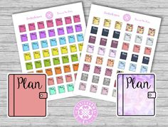 FREE Plan Planner Stickers by Luckicharms
