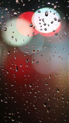 Bokeh Rain Night Window Pattern Background #iPhone #6 #wallpaper