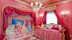 Disney Princess bedroom <3 i would have died and gone to heaven if this were my room as a kid...so doing this for a kid