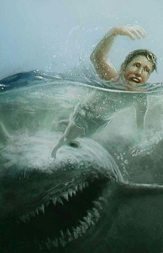 DeviantArt is the world's largest online social community for artists and art enthusiasts, allowing people to connect through the creation and sharing of art. Megalodon, Cthulhu, Le Kraken, Jaws Movie, Jaws Film, Scary, Creepy, Shark Pictures, Foto Top