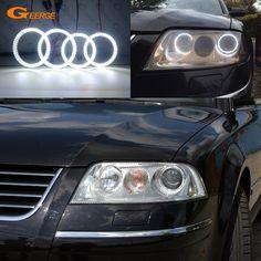 Halogen Headlights, Xenon Headlights, Led Angel Eyes, Passat B5, Cheap Cars, Car Lights, Volkswagen, Automobile, Bright