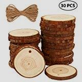 SM SunniMix 50Pcs//Pack Natural Unfinished Wood DIY Projects Driftwood Crafts Wooden Shapes for Handmade Craft Oval 6.5-7cm