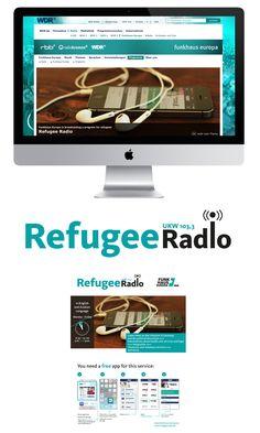 Titelbild und Logo für RefugeeRadio von Funkhaus Europa  PDF inkl. Info zum RefugeeRadio
