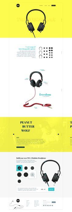 Colorful redesign for aiaiai headphones