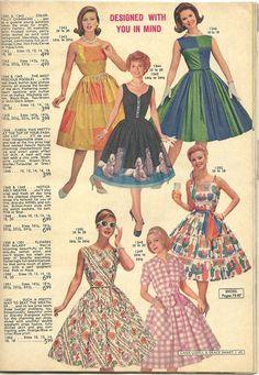 Lana Lobell Spring Summer 1961 heart emoticon the poodles 1960s Dresses, Vintage 1950s Dresses, 1950s Style, 1960s Fashion, Vintage Fashion, Vintage Outfits, 20th Century Fashion, Fashion Catalogue, Vintage Mode