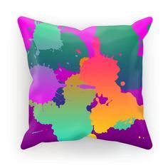 New at love and design today: Paint Splash Cushion - click through http://loveanddesign.com/products/paint-splash-cushion?utm_campaign=social_autopilot&utm_source=pin&utm_medium=pin