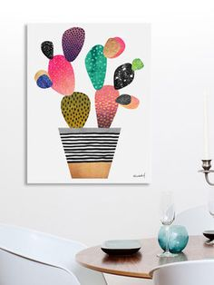 Happy Cactus by Elisabeth Fredriksson (Canvas) from Winter Blowout: Art on Gilt