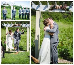 ... sarah george availeth photography wedding wisconsin menomonie marriage bride groom outdoors vineyard cottage winery dress gown ...