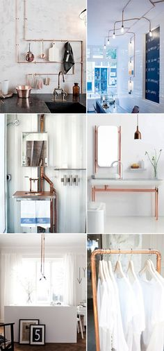 exposed copper piping