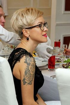 Hair Beauty - -Coolest Short Pixie Cuts and Hairstyles Trends in Trendy hairstyles and colors Women hair colors; New Short Haircuts, Short Hairstyles For Women, Short Hair Cuts, Short Cropped Hairstyles, Blonde Pixie Hairstyles, Ladies Hairstyles, Wedge Hairstyles, Shaved Hairstyles, Undercut Hairstyles