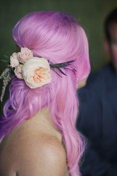 Purple pink pastel hair