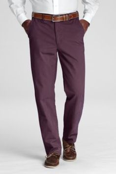 Men's Plain Front Tailored Fit Casual Chino Pants from Lands' End