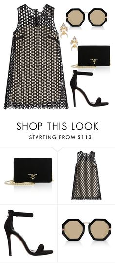 """""""From Prada to nada"""" by laurateplo ❤ liked on Polyvore featuring Prada, Isa Arfen, Steve Madden, Karen Walker and Elizabeth Cole"""