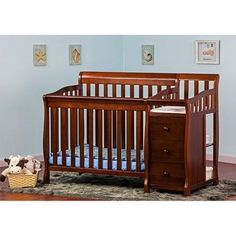 Crib Convertible 1 4 Baby Bedding Nursery Furniture Toddler Changer Portable  NEW