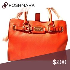 Michael Kors Purse Michael Kors orange purse. In like new condition! Accepting all reasonable offers, no trades please. More pictures to come! Michael Kors Bags Shoulder Bags