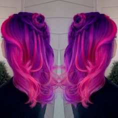 Purple and pink ombré hair pravana vivids!