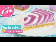 TARTA CEBRA DE YOGUR Y MORAS   Postre sin horno   Quiero Cupcakes! - YouTube