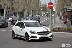 A45 Amg, Benz A Class, Ideas Para, Mercedes Benz, Madrid, Motorcycles, Cars, Storage, Mercedes Car