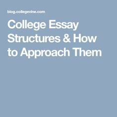 Best College Essays Images In  Youll Encounter Several Different Types Of Essays In The Admission  Process And The Range Of Structures Can Leave You A Little Confused