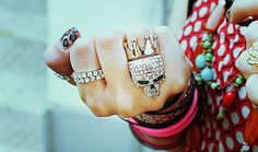 Chic Crown Skull Rings