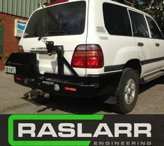 Toyota LandCruiser 100 Series Raslarr Rear Bar EMAIL FOR SHIPPING QUOTE BEFORE ORDERING 100 Series Landcruiser, Landcruiser 100, Toyota Land Cruiser 100, Jerry Can, Can Holders, Nara, Rear Window, The Struts, The 100
