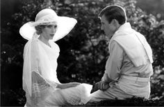 Mia Farrow and Robert Redford in 'The Great Gatsby', directed by Jack Clayton (1974)