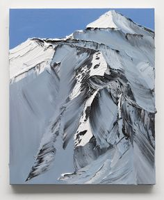 Conrad Jon Godly's Abstract Mountains Drip from the Canvas  http://www.thisiscolossal.com/2014/05/abstract-mountains-conrad-godly/