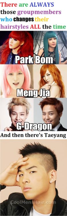 LOL, He's had it for as far back as their first or second debut. Youngbae is Taeyang because of the mohawk... <3