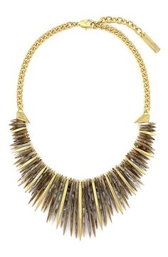 Vince Camuto 'Serengeti Breeze' Spiky Bib Necklace available at #Nordstrom