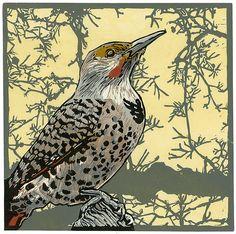 Flicker Sky: Barbara Stikker: Linocut Print   Artful Home