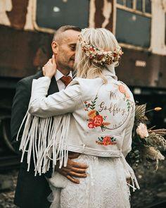Hottest Trend 2020/2021: 18 Wedding Jackets ❤ wedding jackets white for country rustic boho natalie J #weddingforward #wedding #bride