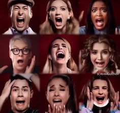 scream queens// dont know why joe jonas is screaming hes the evil one #workingwiththereddevil
