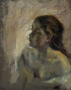 Edgar Degas / A Study of a Girl's Head /   Late 1870s / oil on canvas